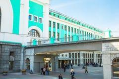 Byggnaden av järnvägsstationen Royaltyfri Foto