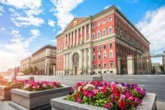 Byggnaden av Moskvaregeringen Royaltyfri Foto