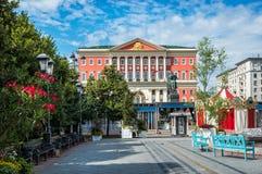 Byggnaden av Moskvaregeringen på den Tverskaya gatan Royaltyfri Bild