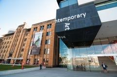 Byggnaden av museet av samtida konst, vaggar, Sydney arkivfoto