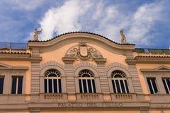 Byggnaden av Palazzo del Freddo, Rome, Italien Fotografering för Bildbyråer