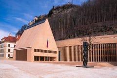 Byggnaden av från Liechtenstein parlament fotografering för bildbyråer