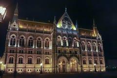 Byggnaden av parlamentet i Budapest Arkivfoton