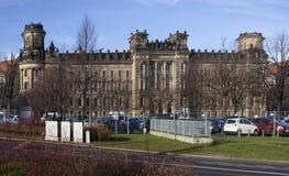 Byggnaden av polisen dresden germany Arkivfoton