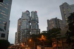 Byggnaden av VCentral i Hong Kong royaltyfri fotografi