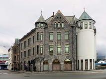 Byggnaden byggdes i 1905 i Alesund Royaltyfria Bilder