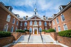 Byggnaden för Delaware statKapitolium i Dover, Delaware royaltyfri fotografi