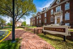 Byggnaden för Delaware statKapitolium i Dover, Delaware Fotografering för Bildbyråer