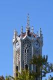 Byggnaden för klockatorn av det Auckland universitetet Arkivfoto