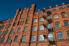 Byggnaden för röd tegelsten Royaltyfri Fotografi