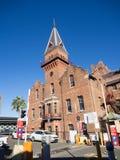 Byggnaden f?r ASN Co ?r enlistad byggnad som lokaliseras p? v?gen f?r 1-5 Hickson, vaggar, Sydney, New South Wales arkivbild