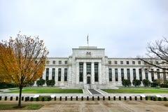Byggnaden för USA Federal Reserve i Washington DC Arkivfoto