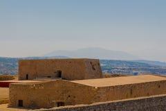 Byggnaden inom den Fortezza slotten Arkivbilder