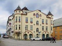 Byggnaden på promenaden av lesund för ï¿ ½ Royaltyfri Bild