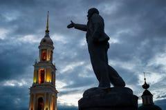Byggnadens helhet av domkyrkafyrkanten i den Kolomna Kreml Kolomna Ryssland Royaltyfri Fotografi