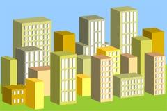 byggnader 3d Vektor Illustrationer