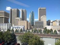 Byggnader av centret i Winnipeg Arkivbilder