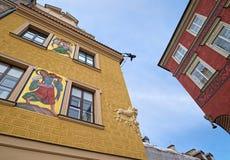 Byggnader av den gamla staden av Warszawa, Polen Arkivbilder