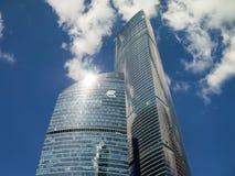 Byggnader av den internationella affärsmitten för Moskva, Moskva, Russi Royaltyfria Foton