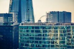 Byggnader av den London staden Royaltyfri Bild