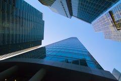 Byggnader av den moderna affärsmitten Royaltyfri Fotografi