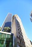 Byggnader av det finansiella området i San Francisco, CA Arkivfoto