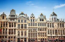 Byggnader av Grand Place Grote Markt, Bryssel arkivbild