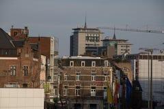Byggnader av Hasselt, Belgien Arkivfoton