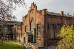 Byggnader av kolgruvan - Rybnik, Polen Royaltyfria Foton