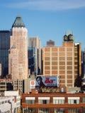 Byggnader av midtownen Manhattan Arkivbild