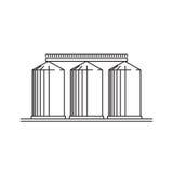 Byggnader av spannmålsmagasinsymbolen