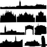 byggnader berömda italy s Arkivfoto