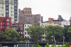 Byggnader bostads- Brooklyn NY Arkivbild