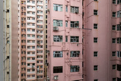 byggnader bostadsHong Kong Royaltyfri Bild