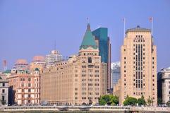 byggnader bund presenterade gammala shanghai Royaltyfri Bild