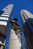 byggnader charlotte finansiell nc USA arkivbild