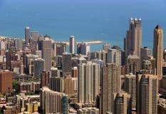 byggnader chicago fotografering för bildbyråer