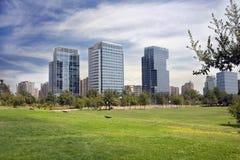 byggnader chile de moderna santiago Arkivfoton