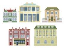 byggnader danad gammal huslyx royaltyfri illustrationer