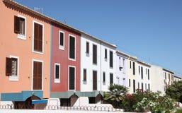 byggnader färgrika portugal Arkivfoto