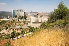 Byggnader för Hadassah vårdcentralsjukhus, Jerusalem Ein Karem, Royaltyfri Bild