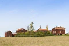 Byggnader för lantgård Ol-Ers Halsingland Sverige Royaltyfri Fotografi