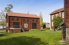 Byggnader för lantgård Ol-Ers Halsingland Sverige Arkivfoton