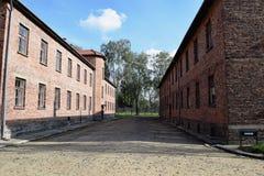 Byggnader för röd tegelsten har mycket att berätta Royaltyfri Fotografi