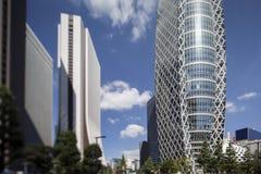 Byggnader för Tokyo shinjukuområde Fotografering för Bildbyråer