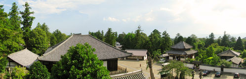 Byggnader förband med det Todaiji tempelet Arkivfoton