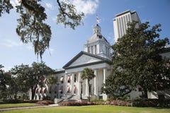 Byggnader Florida USA för Tallahassee Florida statKapitolium Fotografering för Bildbyråer
