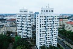 Byggnader från min sikt Arkivfoton