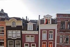 Byggnader i Amsterdam arkivbilder