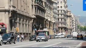 Byggnader i Barcelona, Spanien lager videofilmer